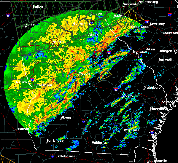 Radar Image for Severe Thunderstorms near Siloam, GA at 2/6/2020 1:25 PM EST