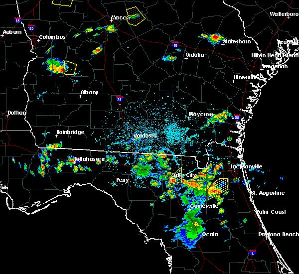 Radar Image for Severe Thunderstorms near Lake City, FL at 6/24/2015 5:14 PM EDT