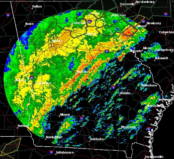 Radar Image for Severe Thunderstorms near Martinez, GA at 2/6/2020 2:13 PM EST