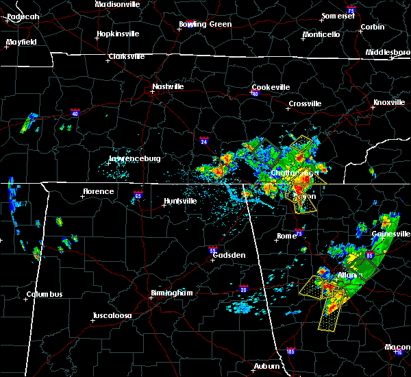 Radar Image for Severe Thunderstorms near Chatsworth, GA at 6/24/2015 5:17 PM EDT