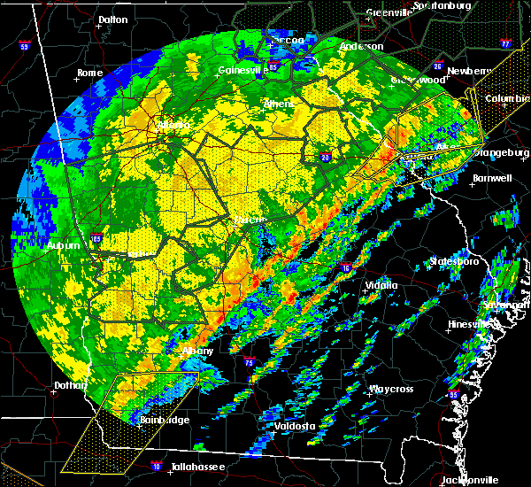 Radar Image for Severe Thunderstorms near Putney, GA at 2/6/2020 3:23 PM EST
