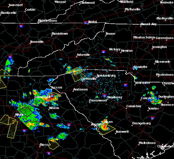 Radar Image for Severe Thunderstorms near Berea, SC at 6/24/2015 5:18 PM EDT