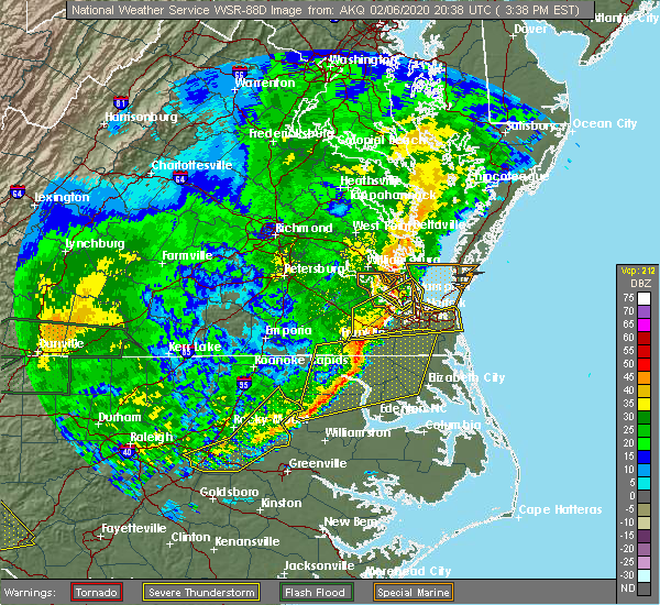 Radar Image for Severe Thunderstorms near Colerain, NC at 2/6/2020 3:44 PM EST