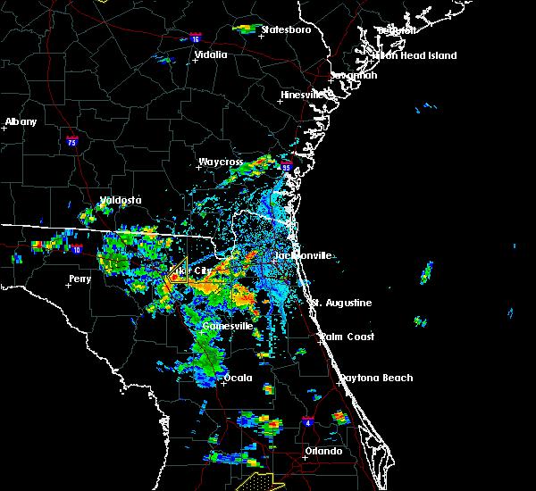 Radar Image for Severe Thunderstorms near Lake City, FL at 6/24/2015 5:24 PM EDT