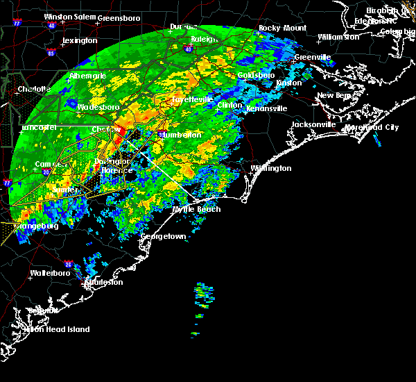 Radar Image for Severe Thunderstorms near Pembroke, NC at 2/6/2020 5:29 PM EST