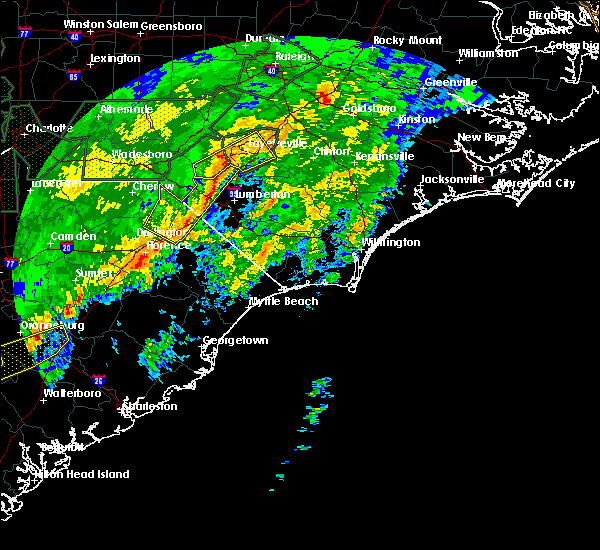 Radar Image for Severe Thunderstorms near Pembroke, NC at 2/6/2020 5:55 PM EST