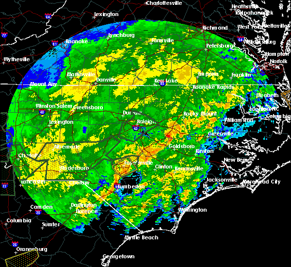 Radar Image for Severe Thunderstorms near Hope Mills, NC at 2/6/2020 6:05 PM EST