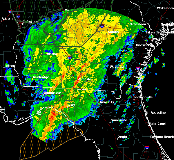 Radar Image for Severe Thunderstorms near Lake Park, GA at 2/6/2020 6:46 PM EST