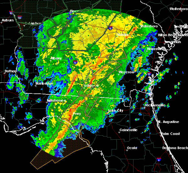 Radar Image for Severe Thunderstorms near Jennings, FL at 2/6/2020 7:07 PM EST