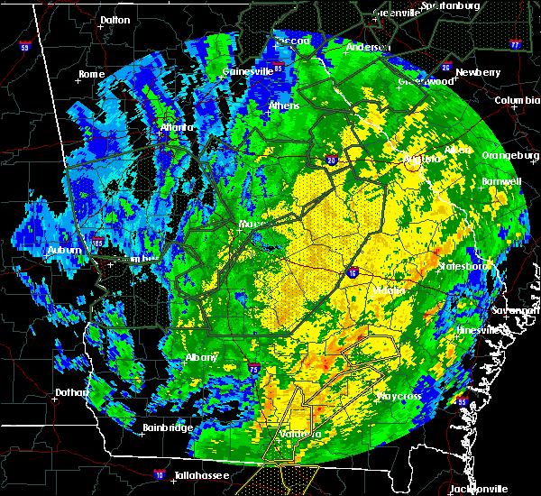 Radar Image for Severe Thunderstorms near Graham, GA at 2/6/2020 7:12 PM EST