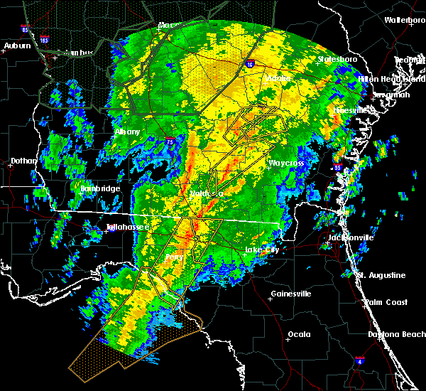 Radar Image for Severe Thunderstorms near Jennings, FL at 2/6/2020 7:23 PM EST