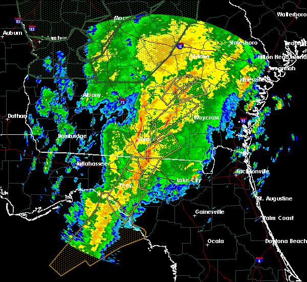 Radar Image for Severe Thunderstorms near Alma, GA at 2/6/2020 7:29 PM EST