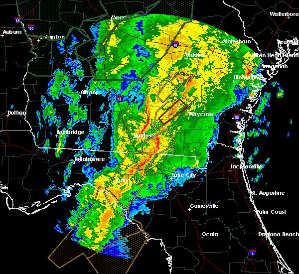 Radar Image for Severe Thunderstorms near Alma, GA at 2/6/2020 7:42 PM EST