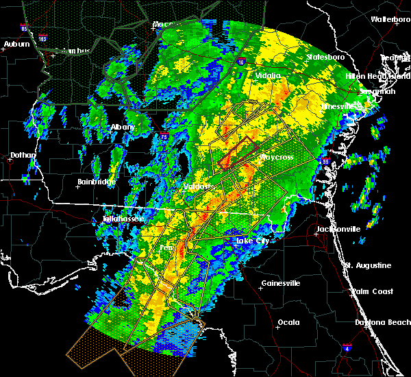 Radar Image for Severe Thunderstorms near Jennings, FL at 2/6/2020 8:03 PM EST