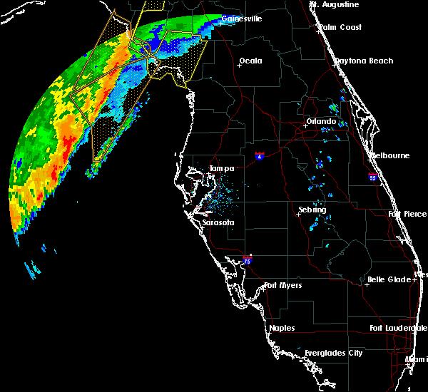 Radar Image for Severe Thunderstorms near East Bronson, FL at 2/6/2020 8:36 PM EST