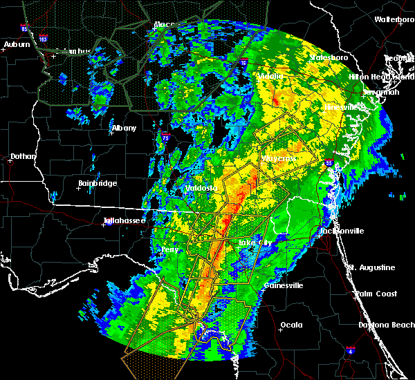 Radar Image for Severe Thunderstorms near High Springs, FL at 2/6/2020 8:44 PM EST