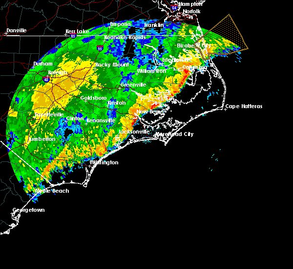 Radar Image for Severe Thunderstorms near Minnesott Beach, NC at 2/6/2020 8:50 PM EST