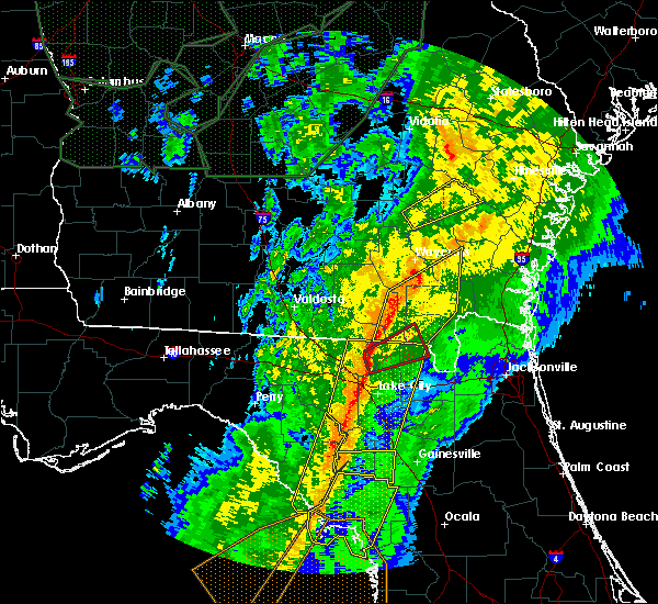 Radar Image for Severe Thunderstorms near High Springs, FL at 2/6/2020 8:58 PM EST