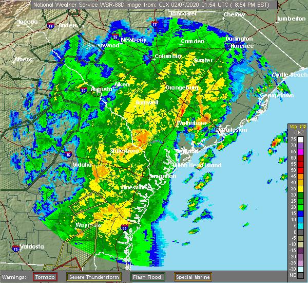 Radar Image for Severe Thunderstorms near Odum, GA at 2/6/2020 9:01 PM EST