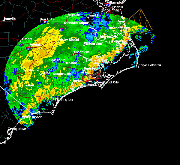 Radar Image for Severe Thunderstorms near Minnesott Beach, NC at 2/6/2020 9:06 PM EST
