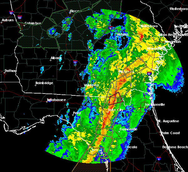 Radar Image for Severe Thunderstorms near High Springs, FL at 2/6/2020 9:10 PM EST