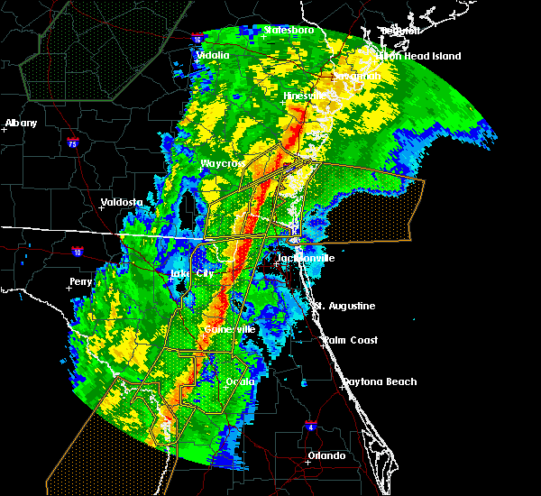 Radar Image for Severe Thunderstorms near Gainesville, FL at 2/6/2020 9:59 PM EST