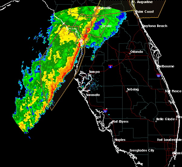 Radar Image for Severe Thunderstorms near Sugarmill Woods, FL at 2/6/2020 10:05 PM EST