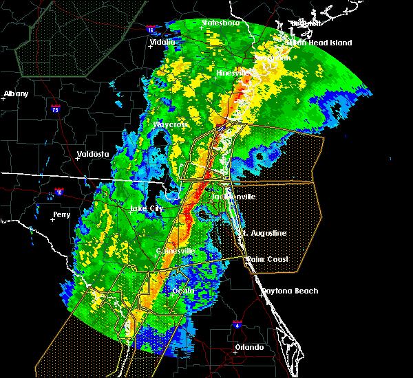 Radar Image for Severe Thunderstorms near Woodbine, GA at 2/6/2020 10:09 PM EST