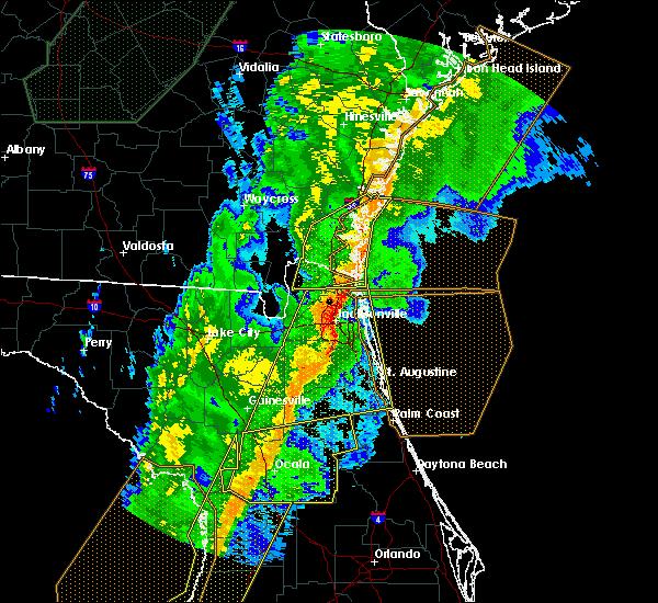Radar Image for Severe Thunderstorms near Yulee, FL at 2/6/2020 10:25 PM EST