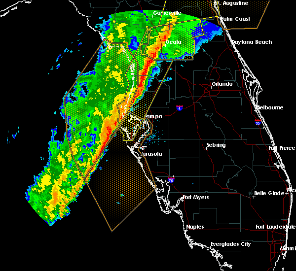 Radar Image for Severe Thunderstorms near Sugarmill Woods, FL at 2/6/2020 10:31 PM EST