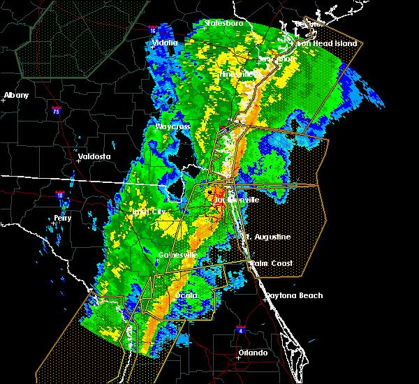 Radar Image for Severe Thunderstorms near Yulee, FL at 2/6/2020 10:34 PM EST