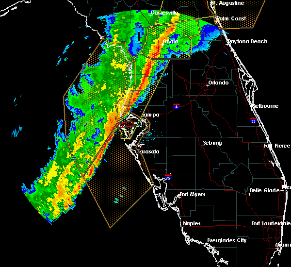 Radar Image for Severe Thunderstorms near Largo, FL at 2/6/2020 10:34 PM EST