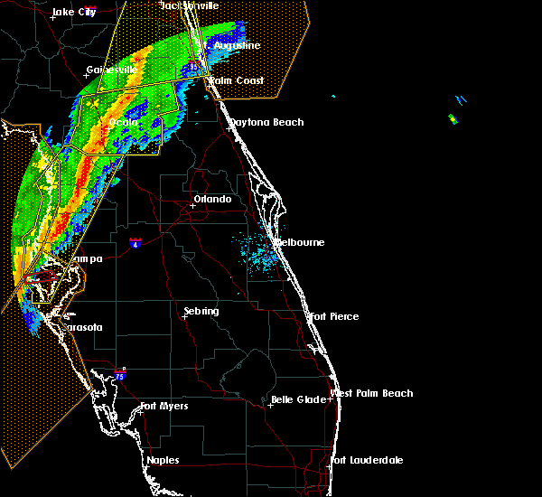 Radar Image for Severe Thunderstorms near Howey-in-the-Hills, FL at 2/6/2020 10:42 PM EST