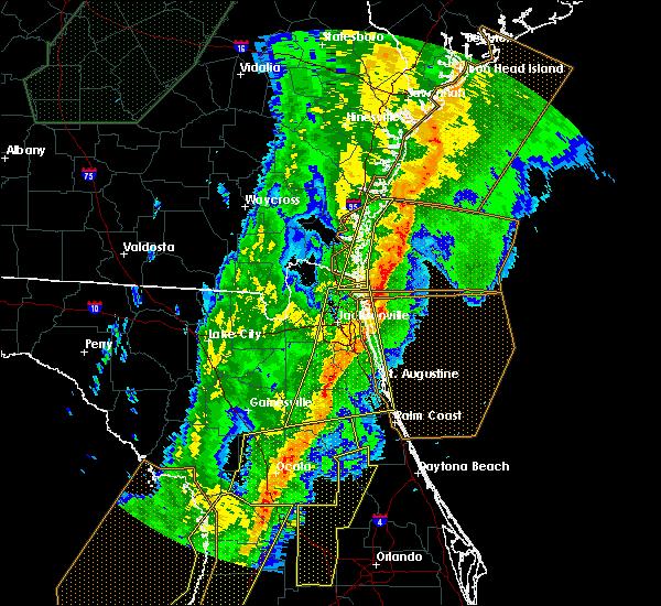 Radar Image for Severe Thunderstorms near Yulee, FL at 2/6/2020 10:43 PM EST