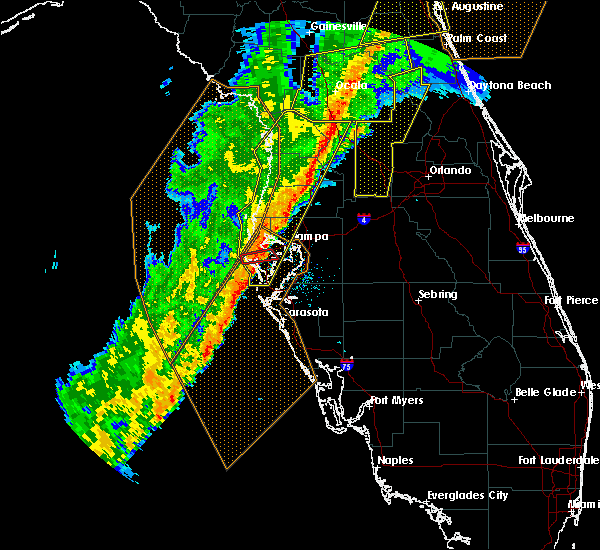 Radar Image for Severe Thunderstorms near Largo, FL at 2/6/2020 10:53 PM EST