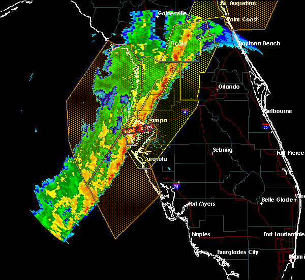 Radar Image for Severe Thunderstorms near St. Petersburg, FL at 2/6/2020 11:00 PM EST