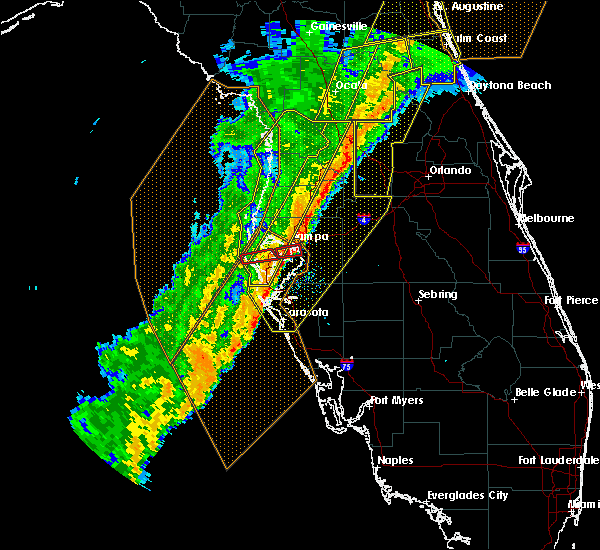 Radar Image for Severe Thunderstorms near St. Petersburg, FL at 2/6/2020 11:09 PM EST