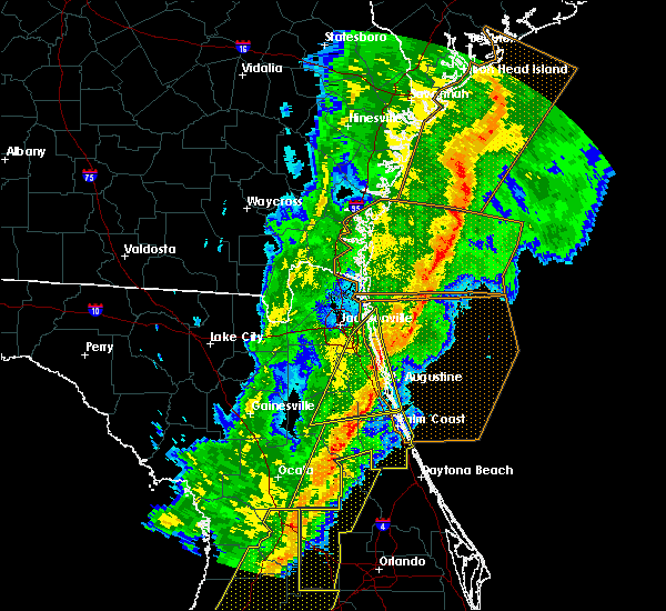 Radar Image for Severe Thunderstorms near World Golf Village, FL at 2/6/2020 11:13 PM EST