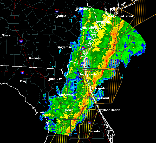Radar Image for Severe Thunderstorms near Flagler Estates, FL at 2/6/2020 11:25 PM EST