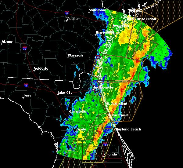 Radar Image for Severe Thunderstorms near Palm Coast, FL at 2/6/2020 11:45 PM EST