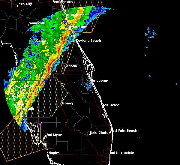 Radar Image for Severe Thunderstorms near North DeLand, FL at 2/6/2020 11:49 PM EST