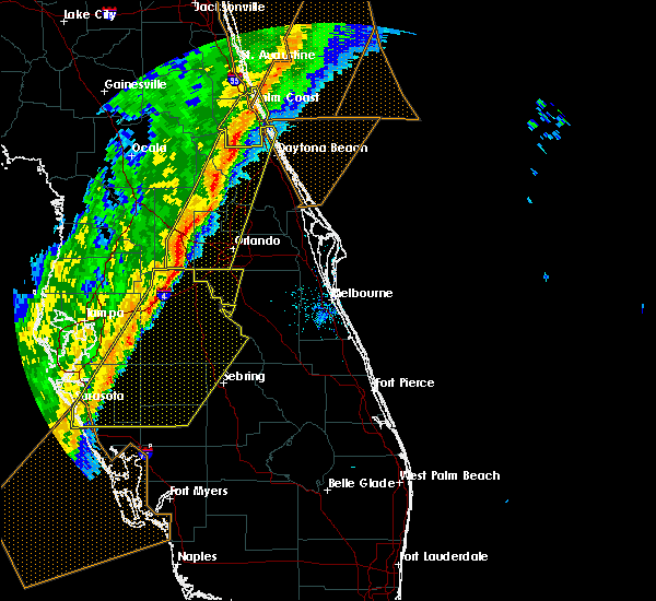 Radar Image for Severe Thunderstorms near Buenaventura Lakes, FL at 2/6/2020 11:53 PM EST