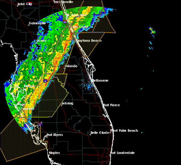 Radar Image for Severe Thunderstorms near North DeLand, FL at 2/7/2020 12:03 AM EST