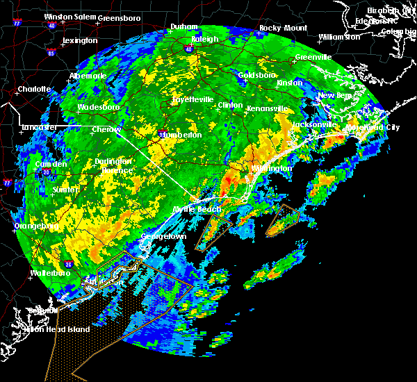 Radar Image for Severe Thunderstorms near Mount Pleasant, SC at 2/7/2020 12:02 AM EST
