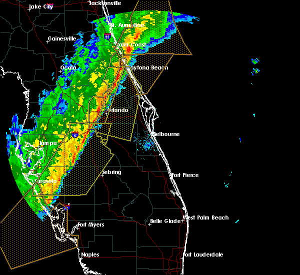 Radar Image for Severe Thunderstorms near Orange City, FL at 2/7/2020 12:10 AM EST
