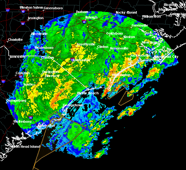 Radar Image for Severe Thunderstorms near Porters Neck, NC at 2/7/2020 12:24 AM EST