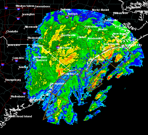 Radar Image for Severe Thunderstorms near Myrtle Beach, SC at 2/7/2020 1:03 AM EST
