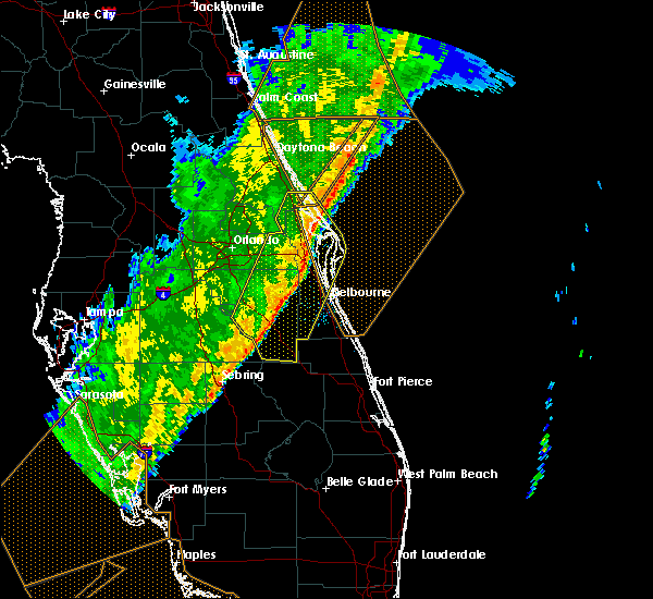 Radar Image for Severe Thunderstorms near Cocoa West, FL at 2/7/2020 1:18 AM EST
