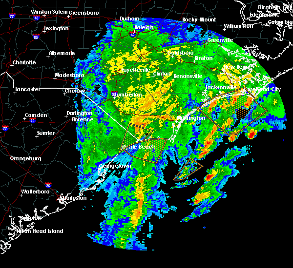 Radar Image for Severe Thunderstorms near Myrtle Beach, SC at 2/7/2020 1:28 AM EST