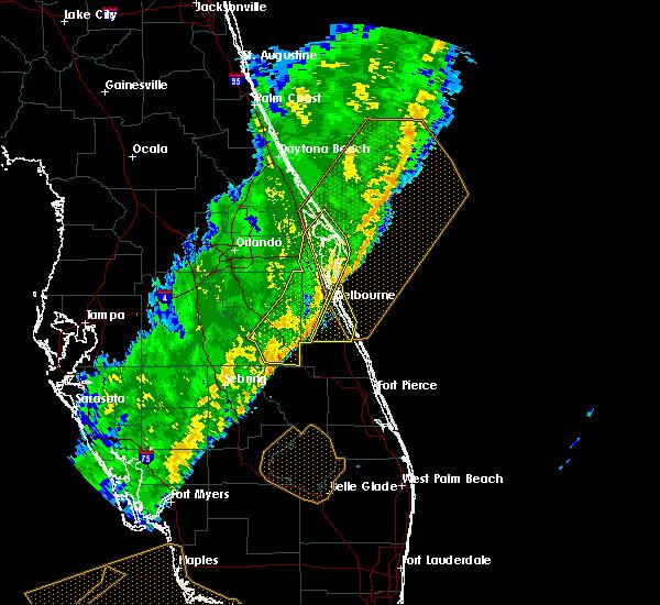 Radar Image for Severe Thunderstorms near Malabar, FL at 2/7/2020 1:48 AM EST